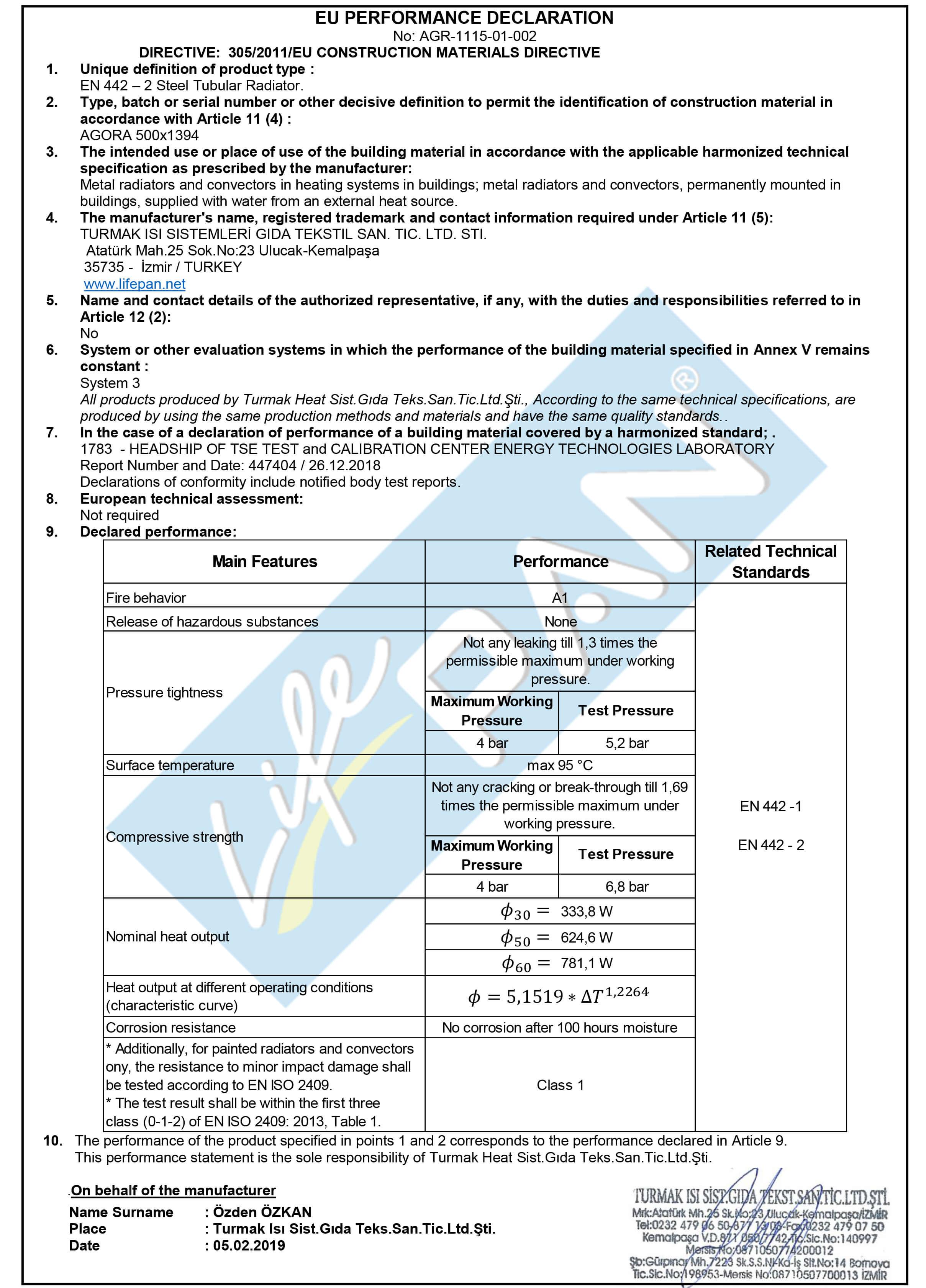 AGORA - 500x1394 EU PERFORMANCE DECLARATION