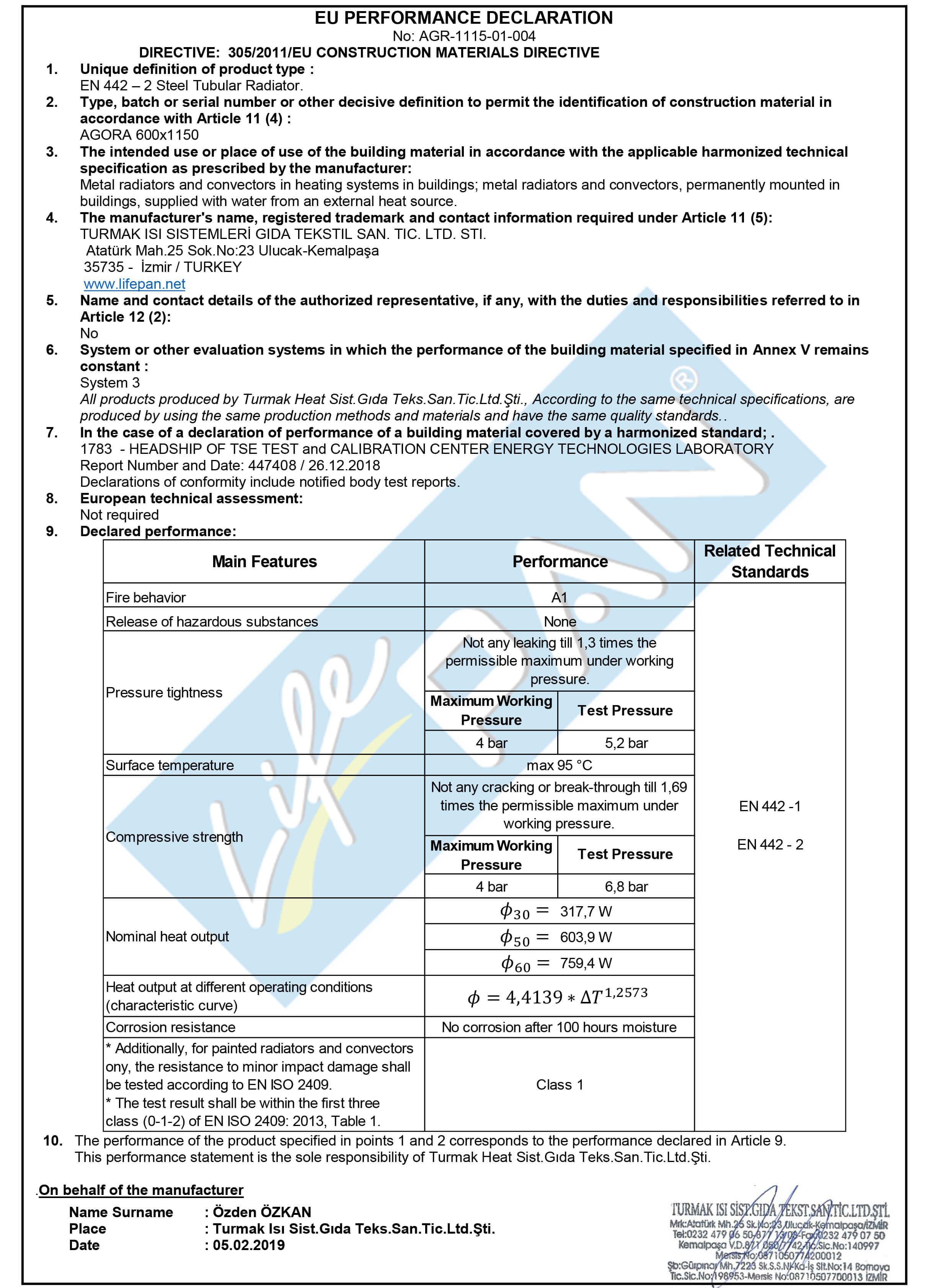 AGORA - 600x1150 EU PERFORMANCE DECLARATION