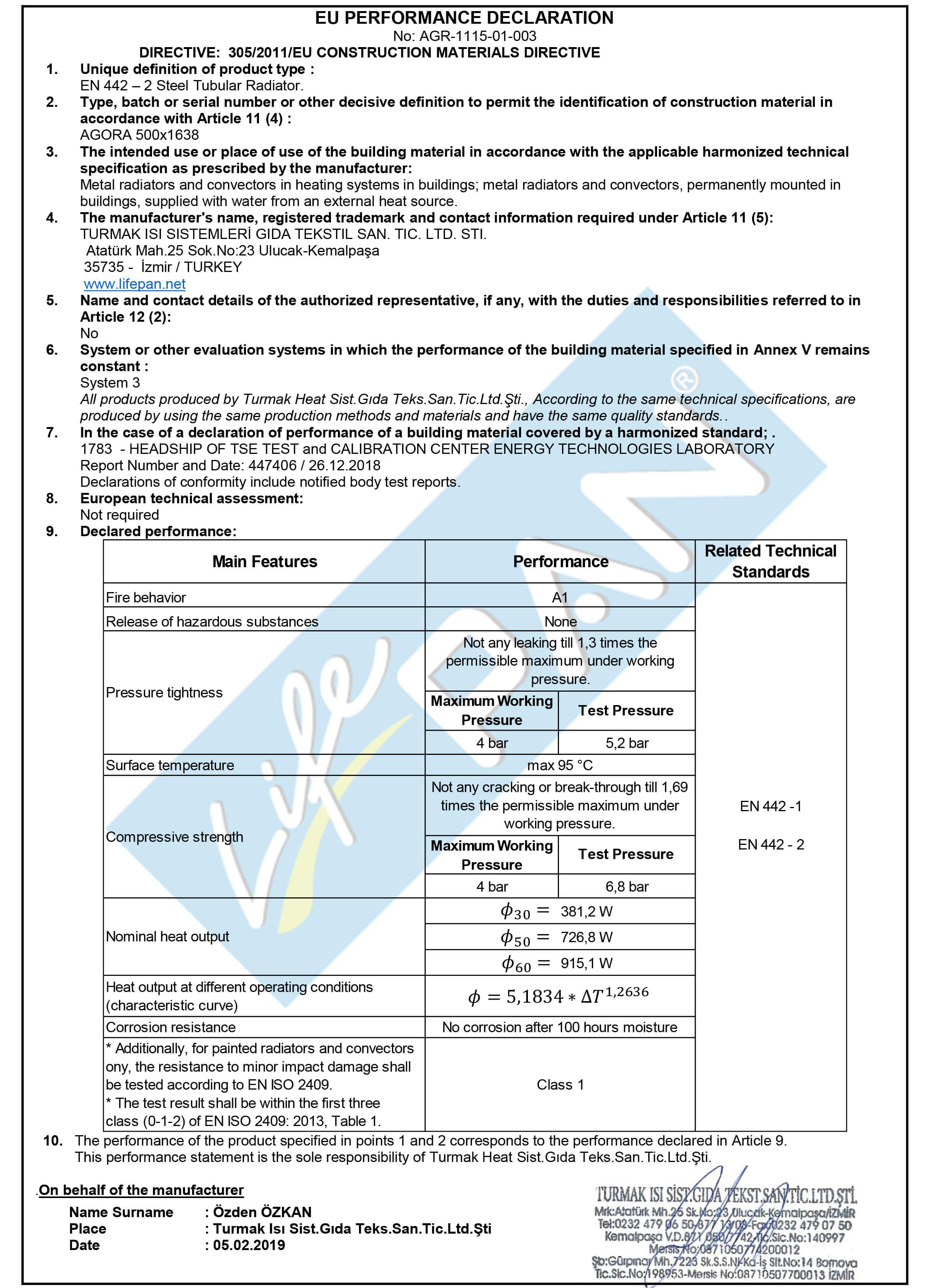 AGORA - 500x1638 EU PERFORMANCE DECLARATION